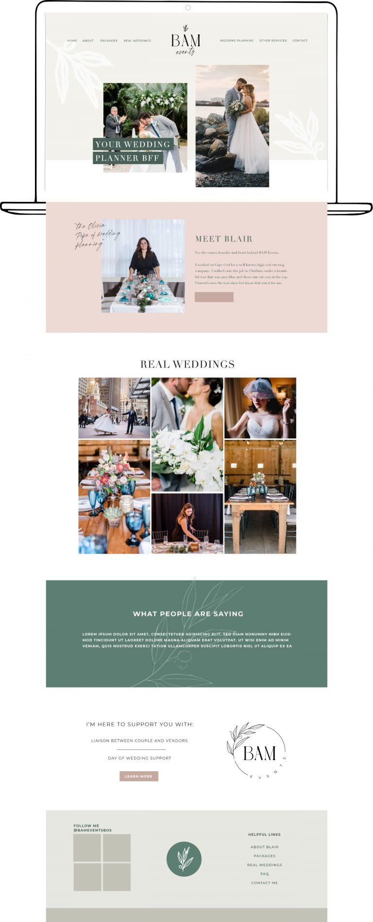 Website Design for Wedding Planner