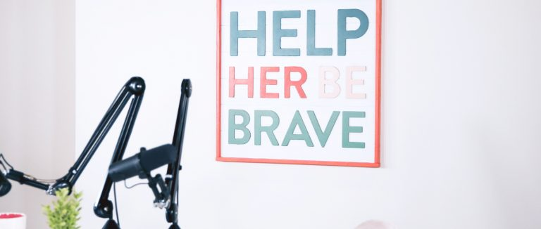 Wall Decal Design for Help Her Be Brave