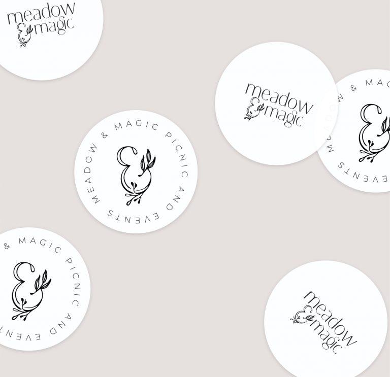 Sticker design using businesses logo